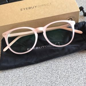 EyeBuyDirect Fiction Round Pink w/blue light